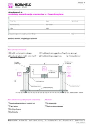 ROEMHELD – Lista kontrolna Modulog Systemy z równobiegiem